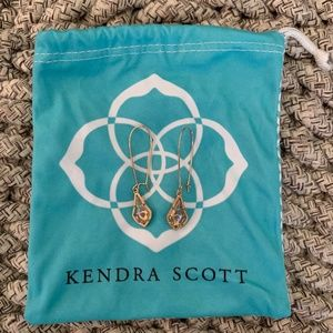 Kendra Scott Lori Long Drop Earrings- Rose Gold